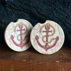 Anchor coaster set of 2